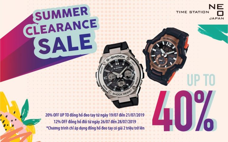 TIME STATION NEO SALE UP TO 40% DURING  SUMMER CLEARANCE SALE