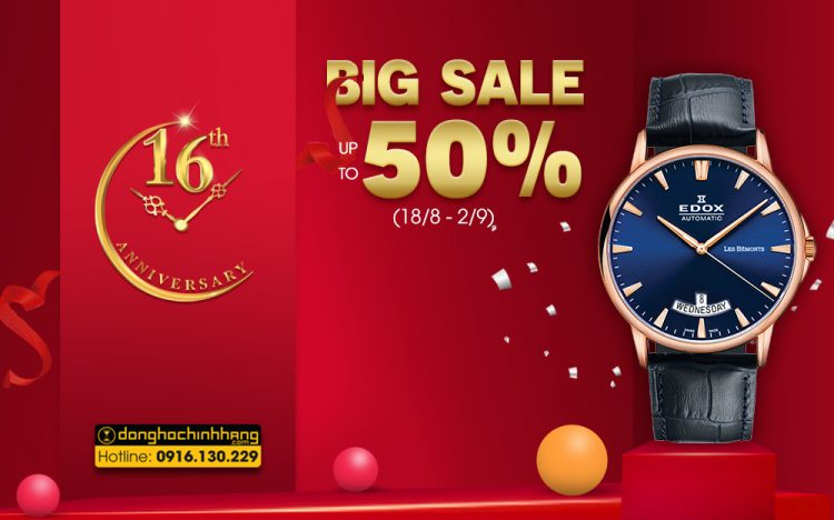FANTASTIC PROMOTION TORNADO – UP TO 50% SWISS WATCHES