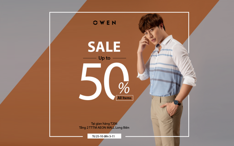 OWEN FASHION SALE UP TO 50% FOR ALL ITEMS