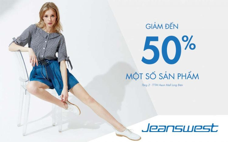 JEANSWEST DISCOUNTS 50% SELECTED ITEMS