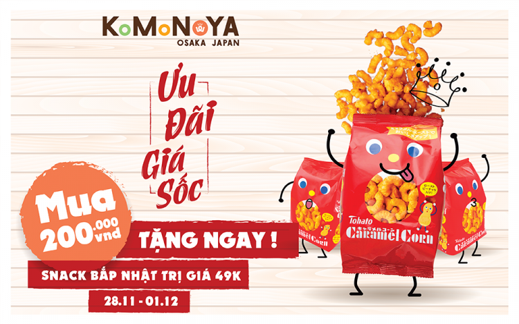 HAPPY BLACK FRIDAY HOLIDAY – GET NOW JAPANESE POPCORN SNACK