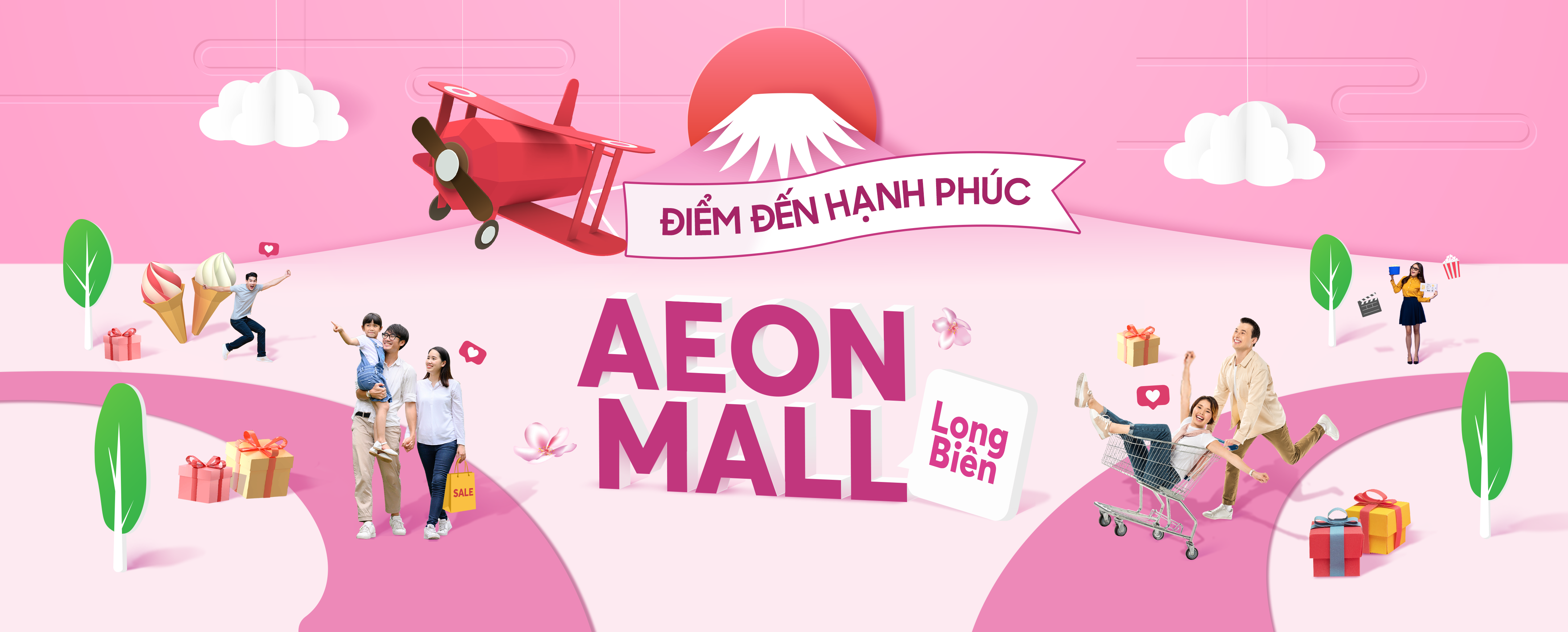 "LAUNCHING NEW KEY VISUAL ""THE HAPPY MALL"" OF AEON MALL LONG BIEN"
