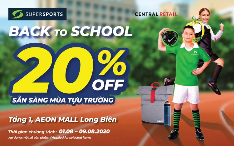 SALE 20% OFF BACK TO SCHOOL