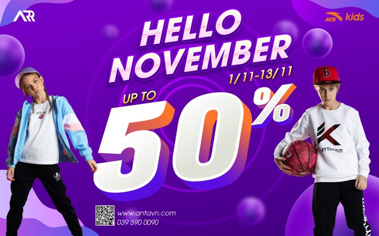 HELLO NOVEMBER: SALE UP TO 50%