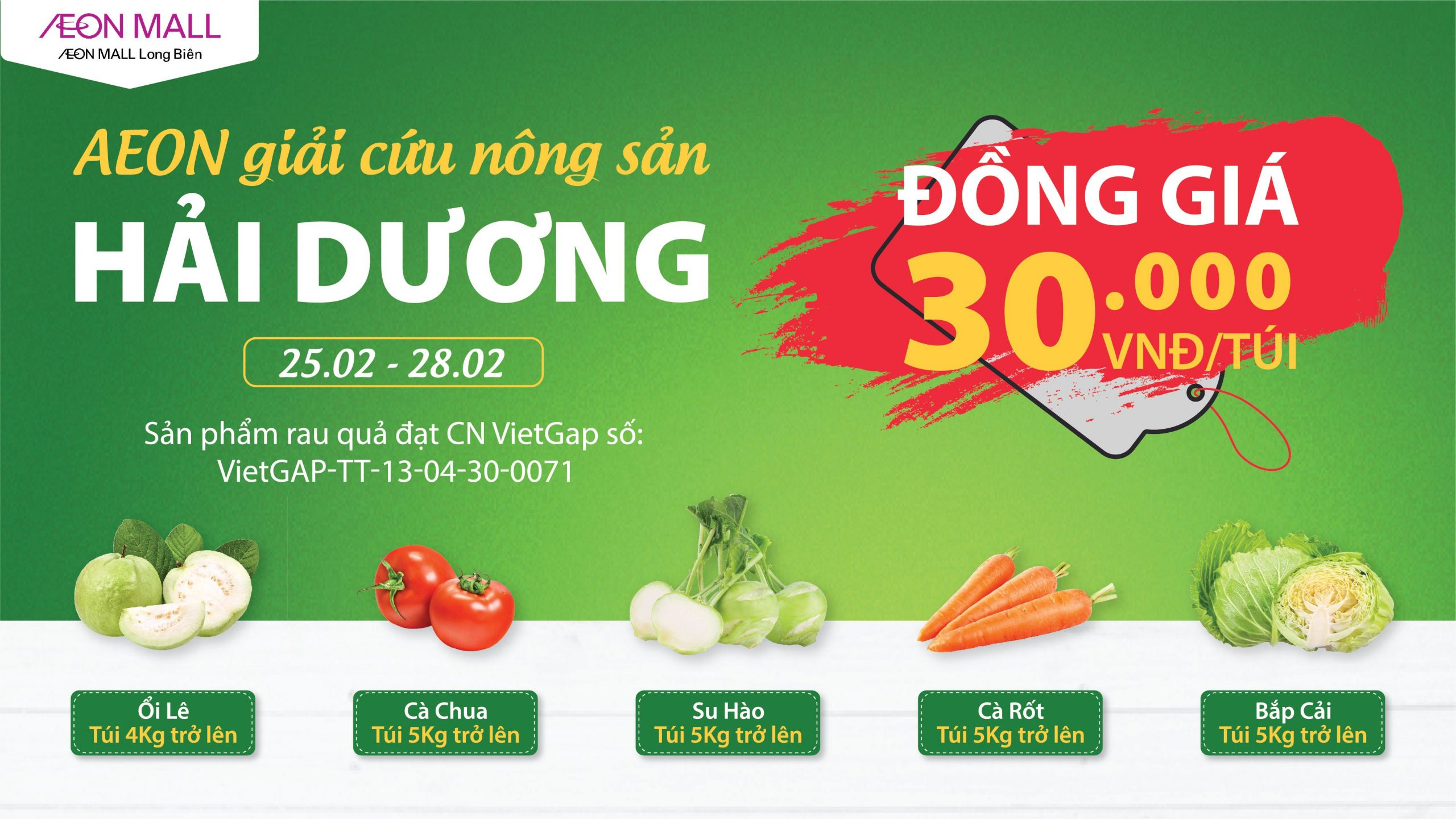 "AEON ""RESCUES"" HAI DUONG'S AGRICULTURAL PRODUCTS"
