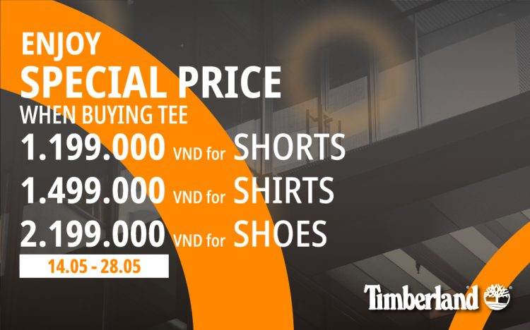 TIMBERLAND | OFFER OF THIS MONTH