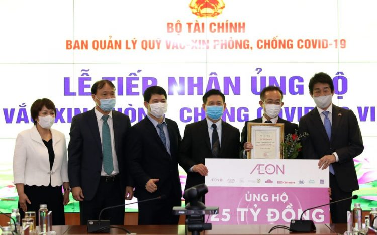 AEON Group donates VND 25 billion to the Covid-19 vaccine fund caring for the community health