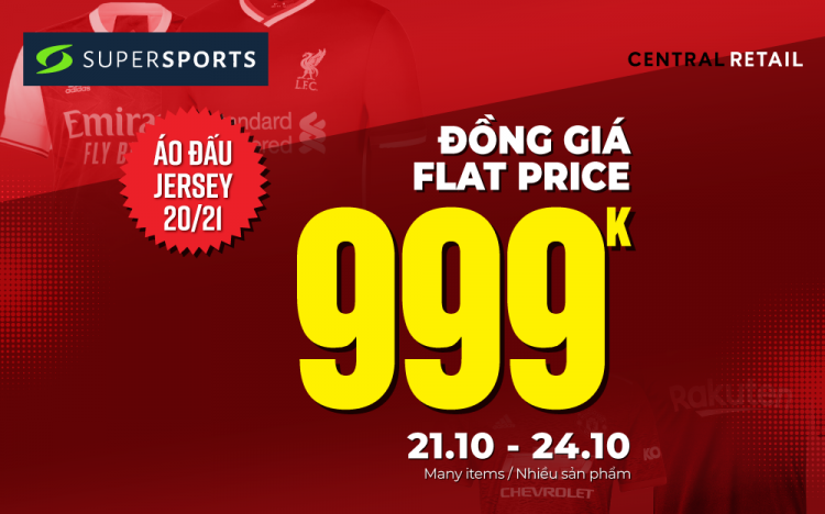 ️FLAT PRICE 999K – JERSEYS 20/21 AT SUPERSPORTS FROM 21-24/10
