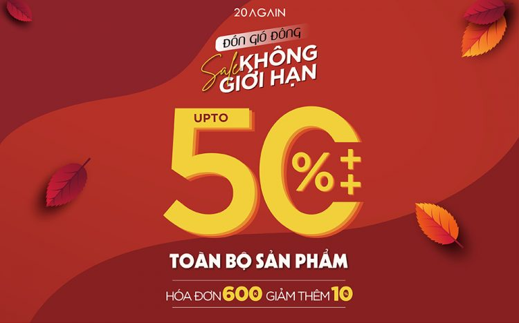 AUTUMN IS HERE – COME TO 20AGAIN TO SAVE UPTO 50%++ ALL ITEMS